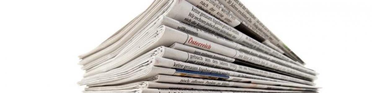 En bunke aviser.